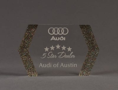 Double Arrow Glitter Award
