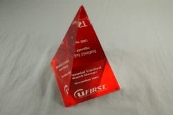4PL Cast Lucite Pyramid Award