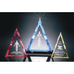 P200M Beveled Triangle Acrylic Award