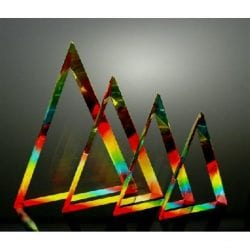SPCTM Spectrum Triangle Acrylic Trophies