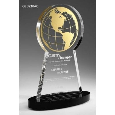 GLBZ10 Corporate Acrylic Globe Trophy