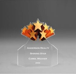 Acrylic Shooting Stars Flair Award