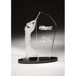 SIGOM Male Acrylic Golf Award
