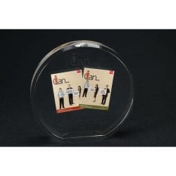 Circle Lucite Tombstone Embedment