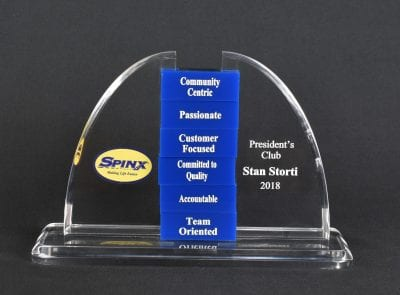 Custom Shaped Perpetual Cutout Award