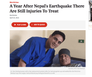 Screenshot of Ravi Bashyal with Nepal's Patient