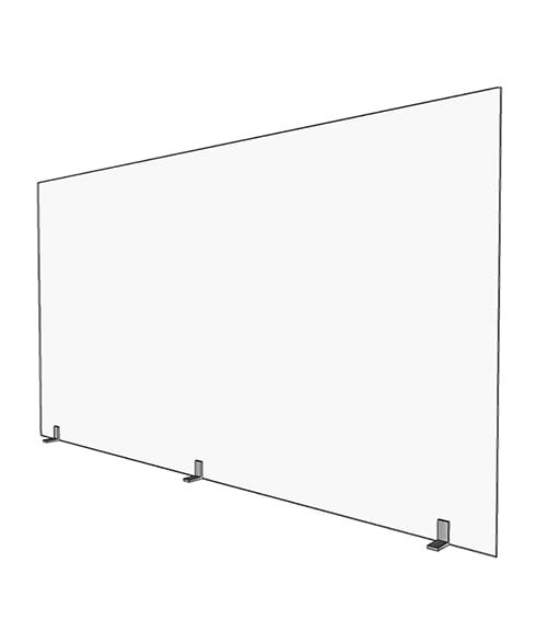 Large 46in Acrylic Divider - Render