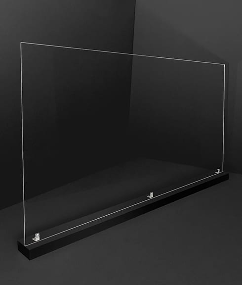 Large 46 in Acrylic Divider with Black Base - Photo