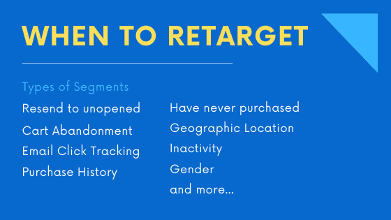 when to retarget emails