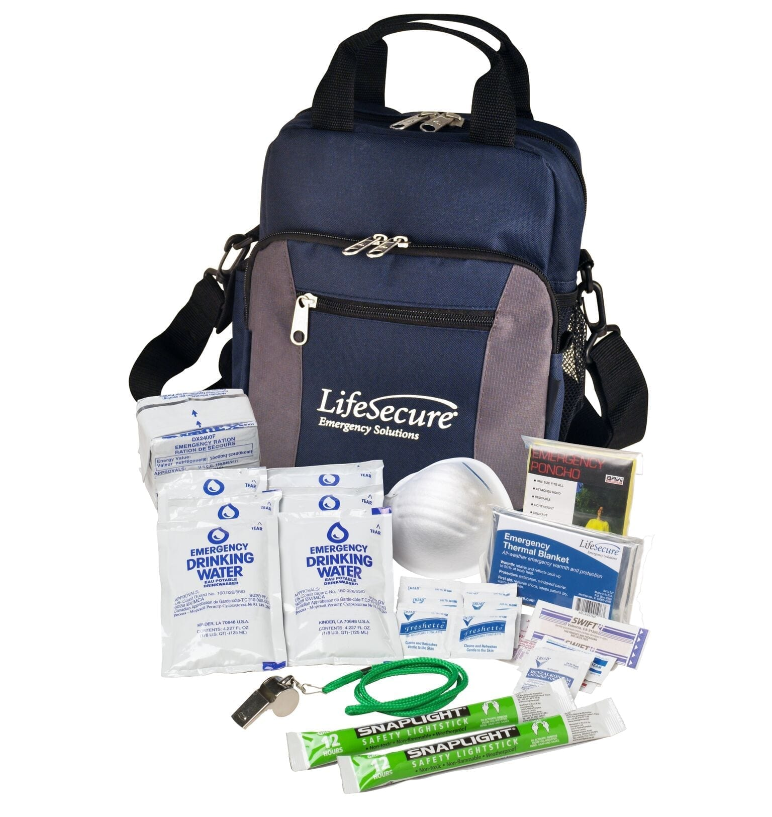 LifeSecure Compact 3-DAY Emergency Survival Kit (80001)