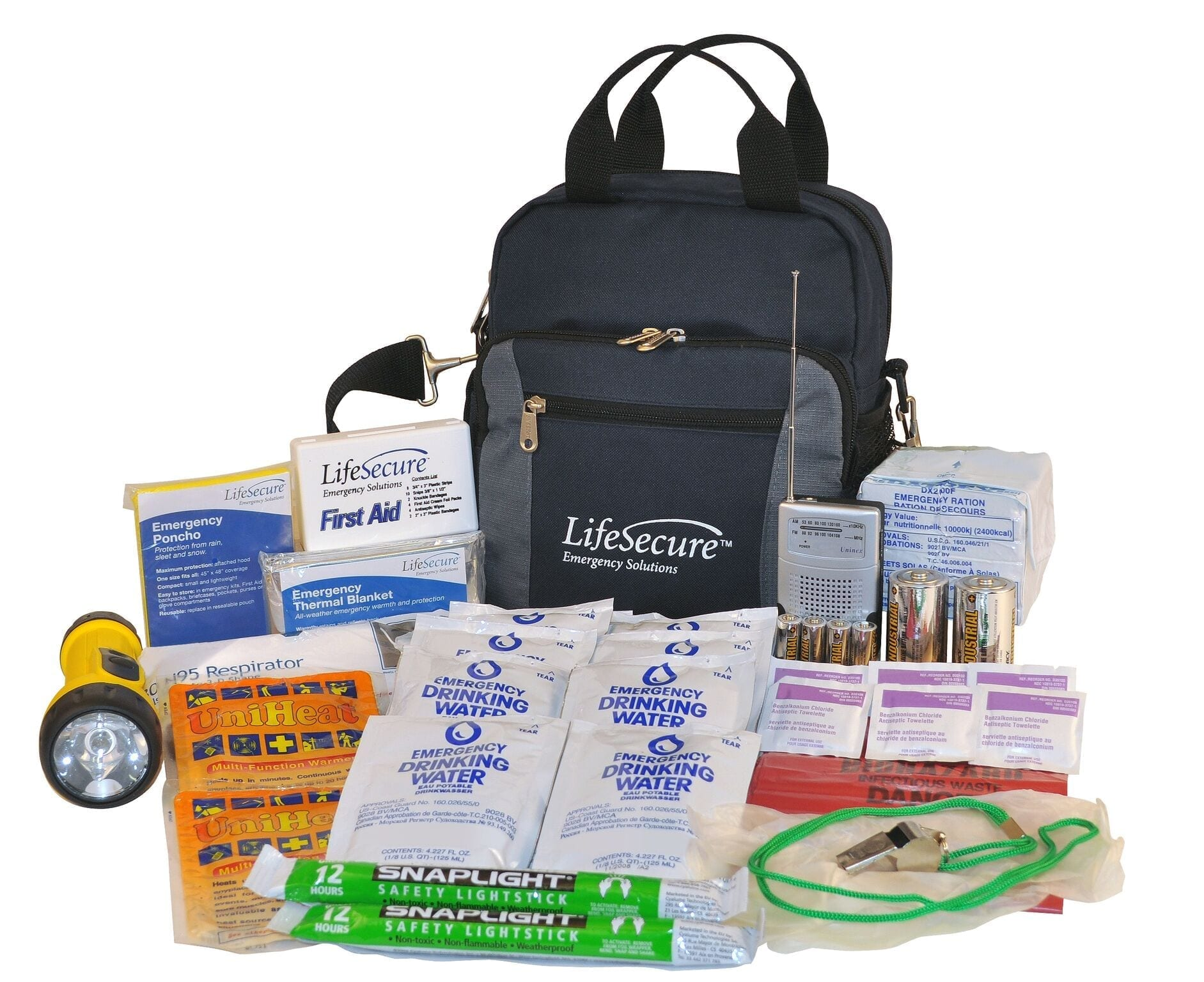 LifeSecure Plus Compact 3-DAY Emergency Survival Kit (81001)