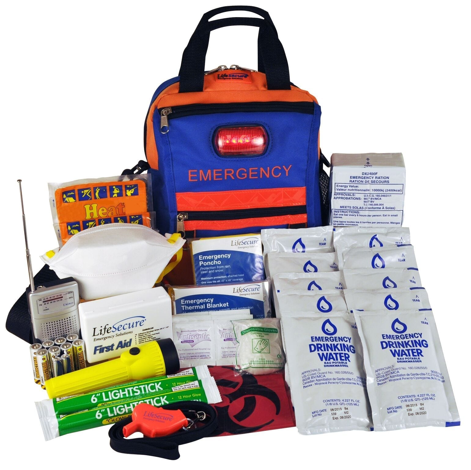 FlashEvac Plus Compact 3-DAY Emergency Survival Kit (81800)