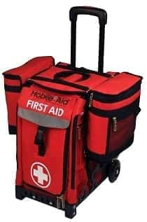 Medical Saddle Bag on First Aid Cart