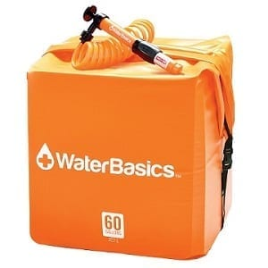 WaterBasics 60 Gallon Disaster & Emergency Water Storage Cube with Filter